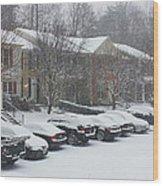 Let It Snow Snow Snow Wood Print
