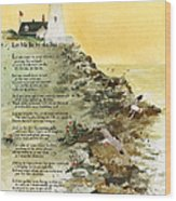 Let Me Be By The Sea Wood Print