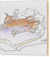 Let Sleeping Dogs Lie Wood Print by Molly Brandenburg