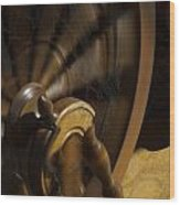 Let The Spinning Wheel Spin Wood Print