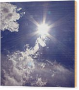 Let The Sun Shine In Wood Print by Andrea Dale