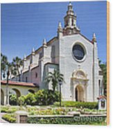 Let There Be Light Knowles Memorial Chapel 1 By Diana Sainz Wood Print