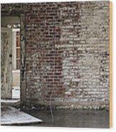 Letchworth Village Brick Wall With Door 3 Wood Print