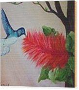 Let's Celebrate Spring Is Here Wood Print by Janis  Tafoya