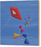 Let's Go Fly A Kite Wood Print by Cindy Thornton