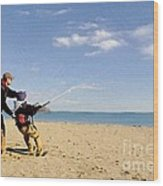 Let's Go Fly A Kite Wood Print