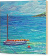 Let's Go Sailing Wood Print