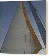Let's Sail Wood Print