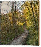 Let's Walk Wood Print