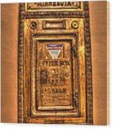 Letter Box Wood Print