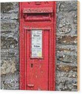 Victorian Red Letter Box Wood Print