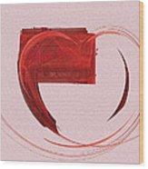 Letter From My Heart Fine Fractal Art Wood Print