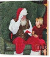 Letter To Santa Wood Print by Eddie Yerkish