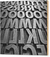 Letters Wood Print