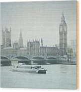 Letters From The Thames - London Wood Print