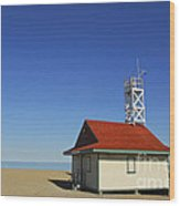 Leuty Lifeguard Station In Toronto Wood Print