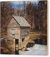 Levi Jackson Park Water Mill Wood Print by Stephanie Frey