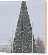 Levis Commons Christmas Tree Wood Print by Jack Schultz