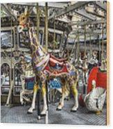 Levitating Giraffe Wood Print