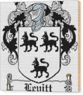 Levitt Coat Of Arms Irish Wood Print