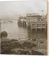 Lewis Fish Market Selected Fresh Fish And Swains Fish Market Monterey 1929 Wood Print