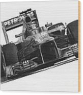 Lewis Hamilton Wood Print by James Wing