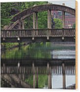 Lewiston Canal Bridge Wood Print