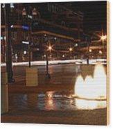 Lexington At Night Wood Print