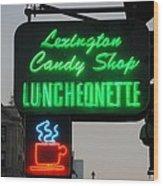 Lexington Candy Shop Wood Print