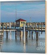 Lexington Harbor With No Boats Wood Print