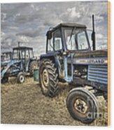 Leyland Tractors  Wood Print