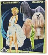 Lhasa Apso Art - The Seven Year Itch Movie Poster Wood Print