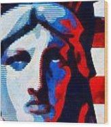 Liberty 3 Wood Print