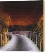 Liberty Bridge At Night Wood Print