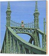 Liberty Bridge Budapest Wood Print