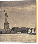 Liberty Enlightening The World Wood Print
