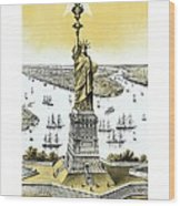Liberty Enlightening The World  Wood Print by War Is Hell Store