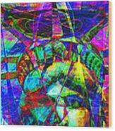 Liberty Head Abstract 20130618 Square Wood Print