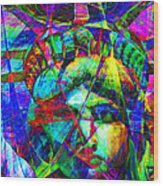 Liberty Head Abstract 20130618 Wood Print