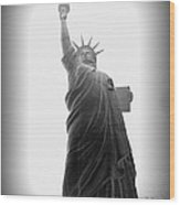 Liberty In Black And White Wood Print