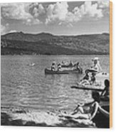 Liberty Lake Summer Leisure In 1940 Wood Print