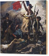Liberty Leading The People During The French Revolution Wood Print