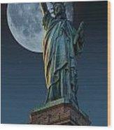 Liberty Moon Wood Print