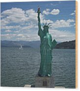 Liberty On Lake Pend Oreille  Wood Print