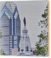 Liberty Place And City Hall Wood Print