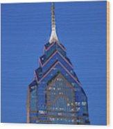 Liberty Place Skyscrapper At Dusk Wood Print