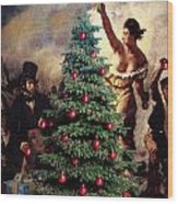 Liberty Places Star On The Tree Wood Print