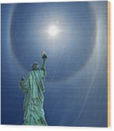 Liberty's Halo Wood Print