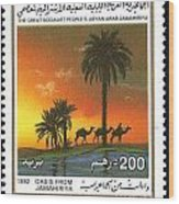 Libia Stamp Wood Print