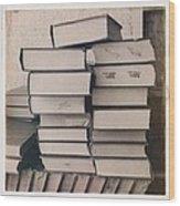 Library Books Wood Print